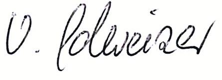 Unterschrift Veronika Schweizer
