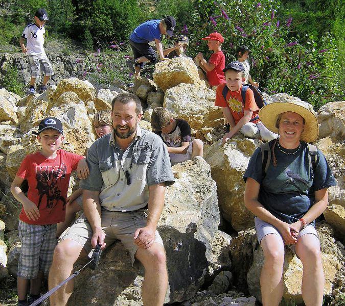 Gruppenfoto im Steinbruch - BZ Freyer