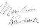 Kaschnitz Unterschrift