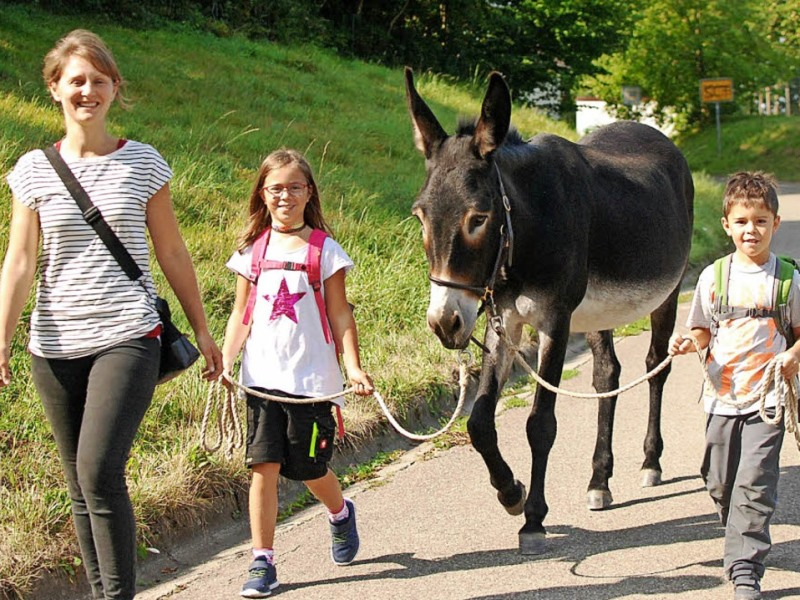 Eselswanderung 2018 - Foto Louis Gross BZ