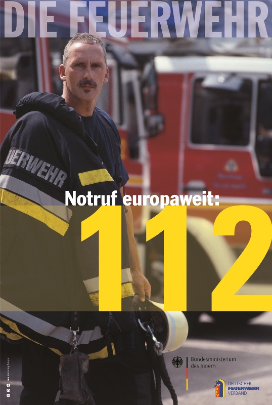 Notruf europaweit: 112 - Aktionsplakat zum EU-Notruftag