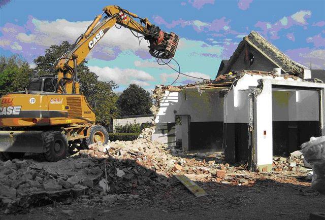 Abbruch altes Feuerwehrhaus