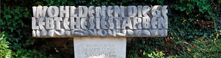 Gedenkstein Marie Luise Kaschnitz