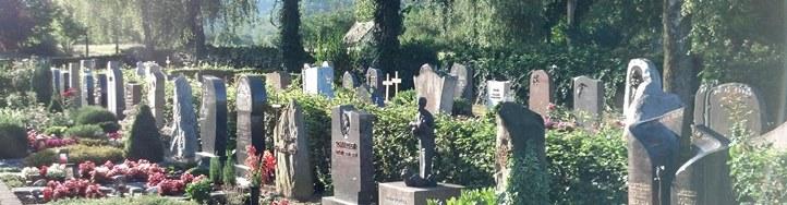 Banner Friedhof