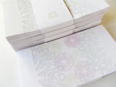 handgedruckte Weihnachtskarten, Katrin Birke, Bollschweil