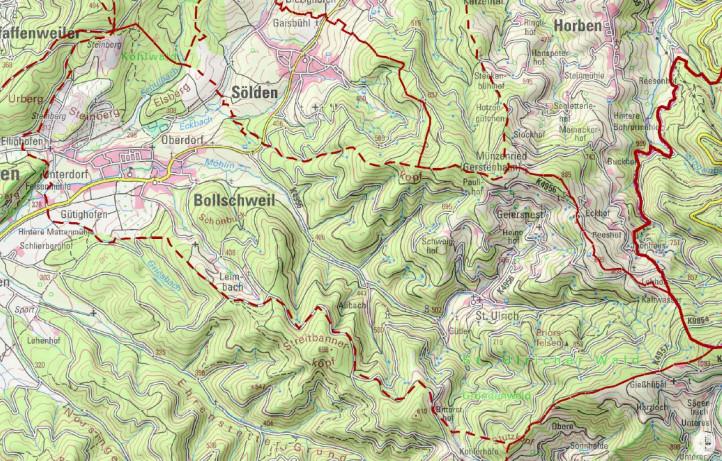 Gemarkungskarte Höhenlinien BürgerGIS