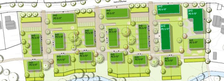 Städtebaulicher Entwurf (Quelle Grünenwald + Heyl Architekten)