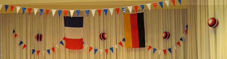 französisch-deutsche Flaggen