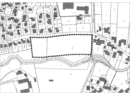 """Geltungsbereich Bebauungsplan """"Südlich General-von-Holzing-Straße"""""""
