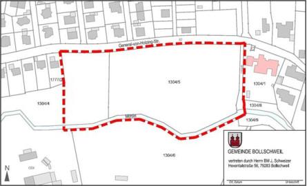 Geltungsbereich BP Südlich der General-von-Holzing-Straße II