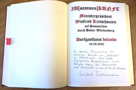 Ministerpräsident Kretschmann zu Besuch in Bollschweil