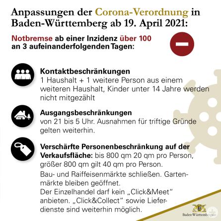 Änderung der Corona-Verordnung ab 19.04.2021@baden-württemberg.de