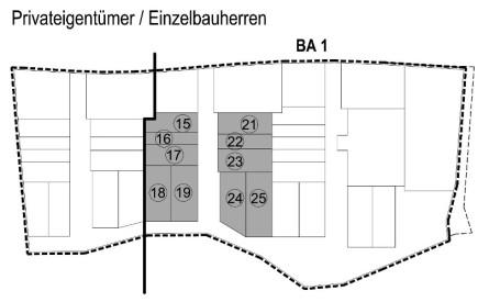 Privateigentümer Einzelbauherren Bauabschnitt 1